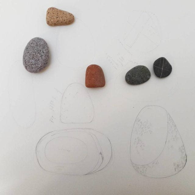 Thinking of a pebble print drawing inthestudio pebbles geologicalart