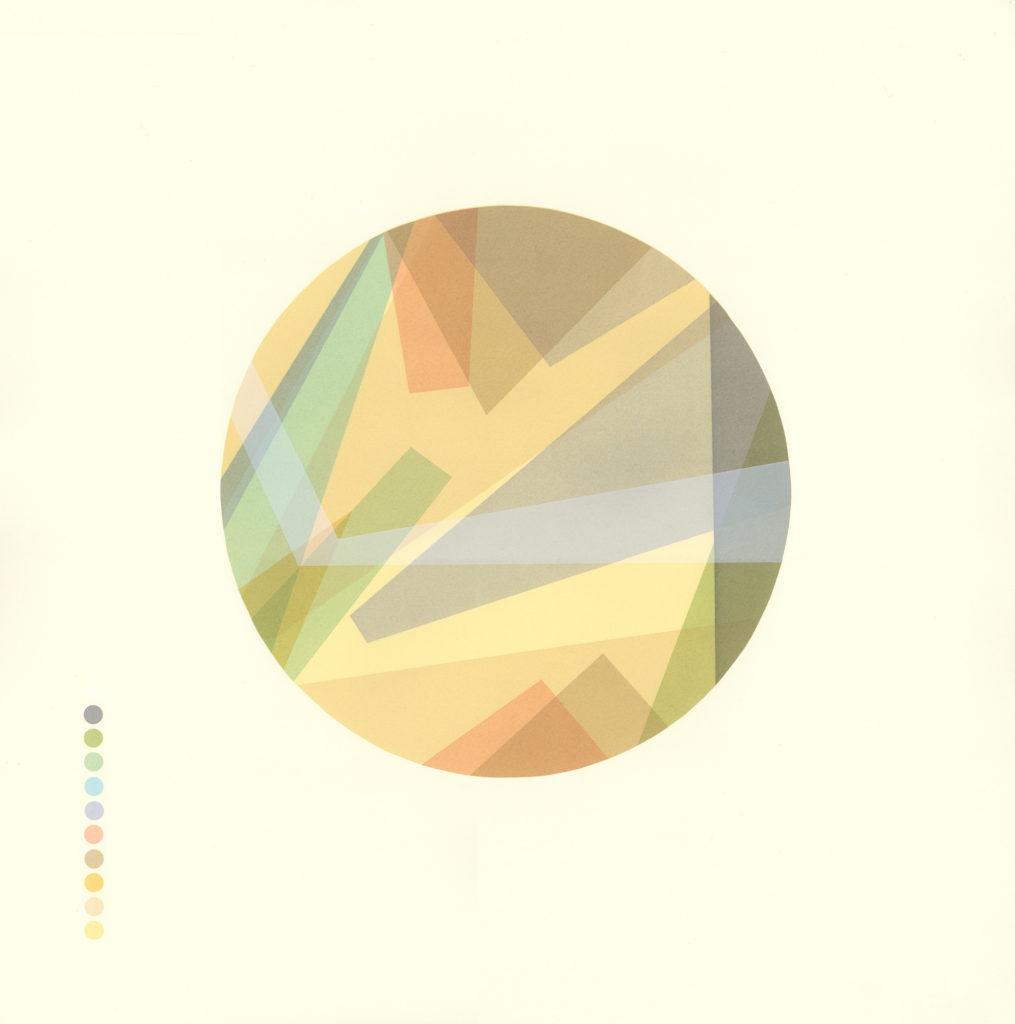 'Geological Series - Bristol' 11 colour screenprint 55x55cm