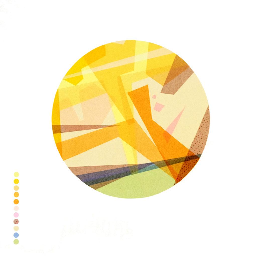 'Geological Series - South London' 13 colour screenprint 55x55cm