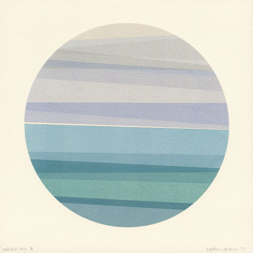 'sea and sky a'  20x20cm 1/1