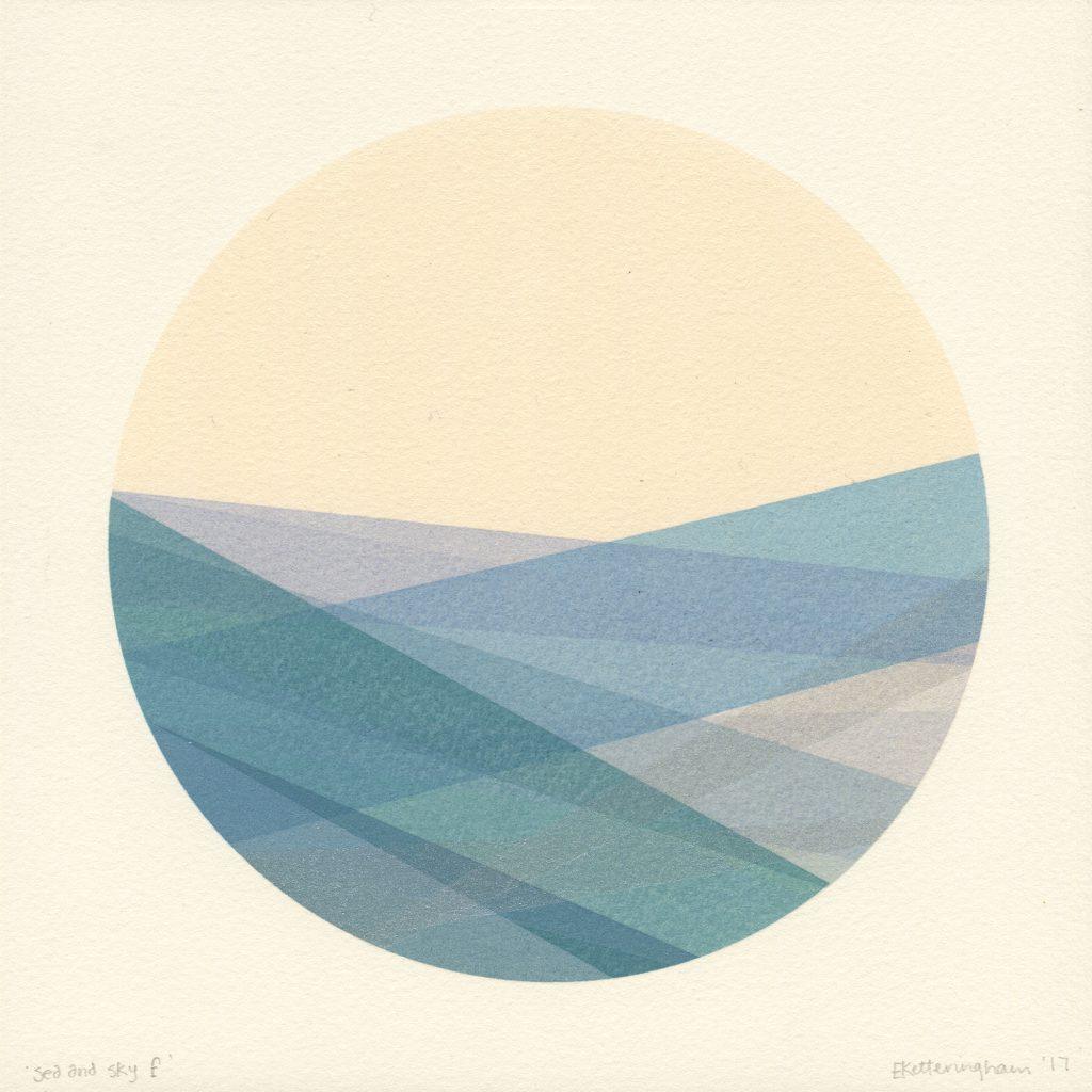 'sea and sky f'  20x20cm 1/1